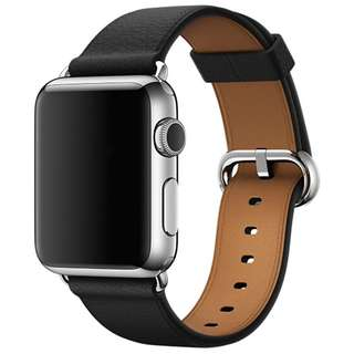 IWATCH-LITCHI STRAP 38/42MM-BLACK