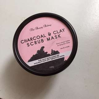 Charcoal and Clay Face Scrub (Beauty Bakery)