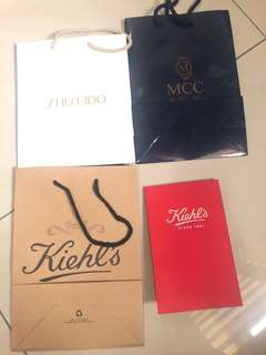 Shiseido, Kiel's , MCC paper bag  (Buy any 3 item Free 1 )