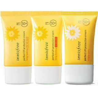 Innisfree Perfect UV Protection Cream Long Lasting Triple Care SPF 50+ PA+++