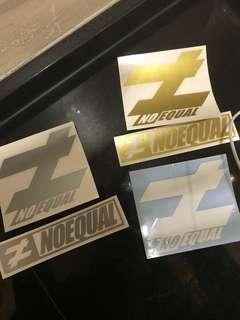 No equal sticker
