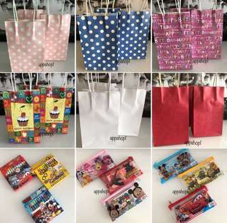 Paper bag, goody bag gift, goodies bag packages