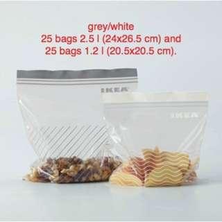 =READY STOCK=IKEA ISTAD Plastic bag re-sealed Food Storage Snack Freezer Bag
