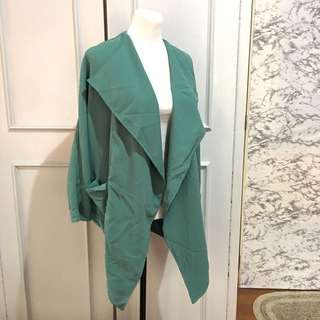 Green Waterfall Coat Freesize fits up to L