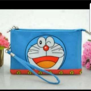 In Stock Doraemon Pouch 2 Compartments Size is 19 × 2.5 × 12cm