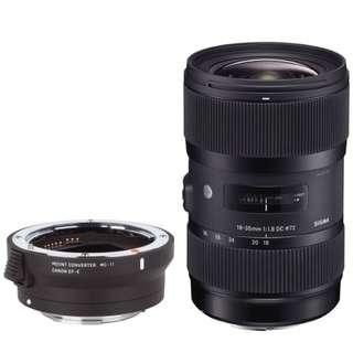 Bundle sigma MC-11 Adapter with sigma 18-35mm art lens