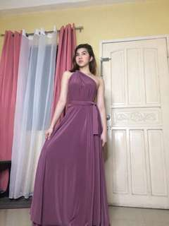 INFINITY DRESS in Dark Lilac