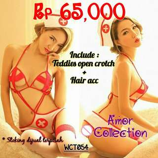 Lingerie seksi suster (WCT054) By AMORCOLLECTION