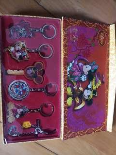 香港迪士尼鎖匙扣套裝