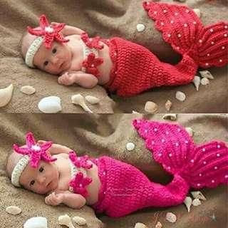 Kostum rajut bayi mermaid - kostum putri duyung bayi