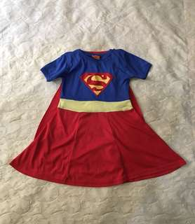 Charity Sale! Superman Supergirl Costume Girl's Size 5 Marvel Comics