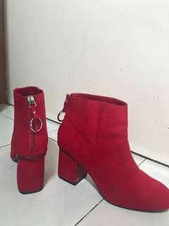 Bershka Red Boots