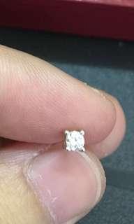 18k金鑽石耳環 約10份 閃 白平售$990