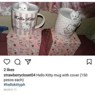 HELLO KITTY MUG WITH COVER