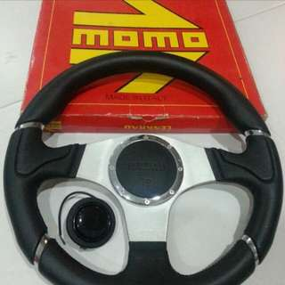 Original 350mm Momo Millennium Steering Wheel