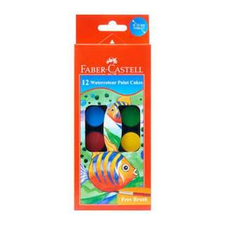 Faber castle 12 watercolor paint cakes