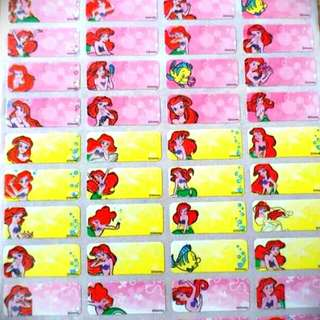 Ariel waterproof name sticker label
