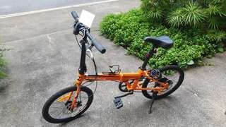 Foldable bicycle lightly used
