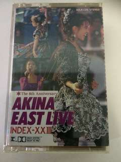 中森明菜 Akina Nakamori The 8th anniversary Akina East Live 卡带 Cassette
