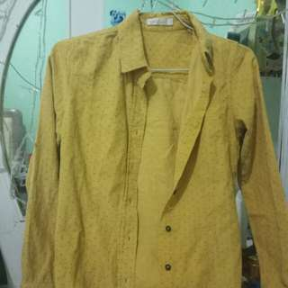 Kemeja mustard long sleeves