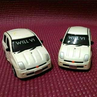 小汽車:TOYOTA-WiLL  Vi(一台)/模型車/玩具車/收藏品/古董珍藏品