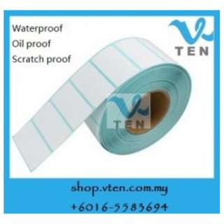 Waterpoof Oil Proof Scratch Proof Thermal Barcode Label 50x30mm