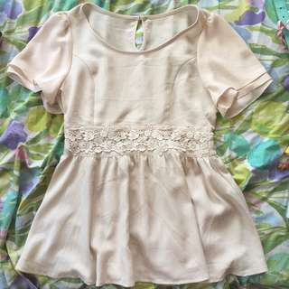 Cream Beautiful Blouse