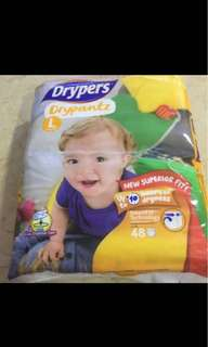 Drypers Drypantz L, 48 pieces in a packet, 3 packets in a carton,it is $33