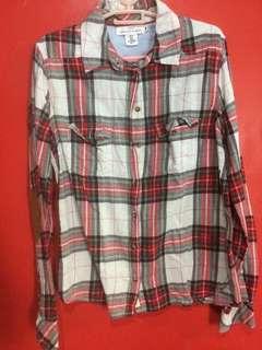 H&M Plaid Long Sleeves Polo