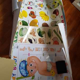 Wall charts for baby