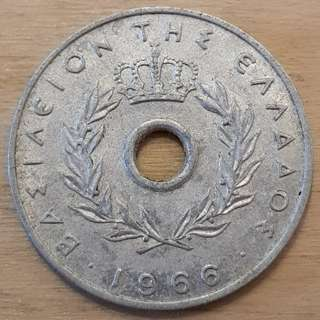 1966 Greece 10 Lepta Coin