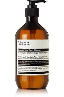 Brand new sealed Aesop geranium leaf body cleanser