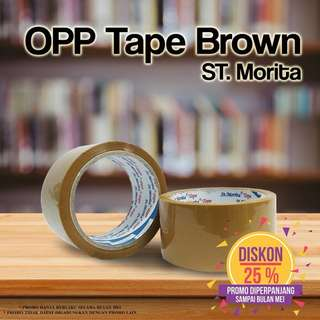 ST. MORITA - OPP TAPE 43 mic - LAKBAN 48 mm x 65 m - Brown