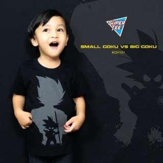 Kids T-shirt Kid Goku vs Adult Goku