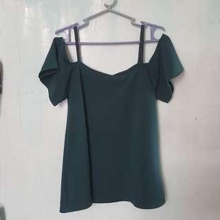 Green open shoulder