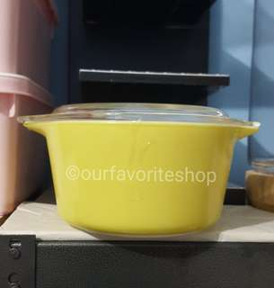 Vintage Small-Size Plain Yellow Pyrex Casserole