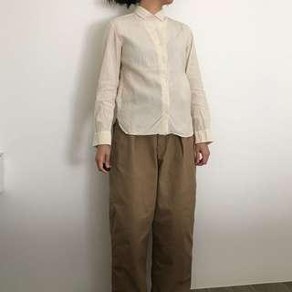 🚚 UNIQLO 聯名 Lemaire 細黃格紋襯衫