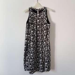 NEW! MANGO Dress Black&White