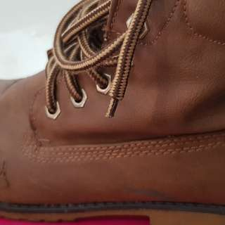 So Fab Lace up Tan Boots
