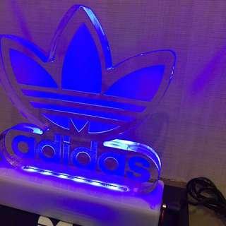 Adidas 藍色 檯燈 裝飾燈