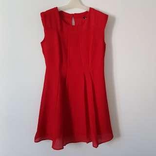 NEW! MANGO Dress Red