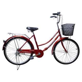 Brand New 24 inch  Lady city Bike/Bicycle With Back Carrier ,Basket & Cushion seat post  Etc.