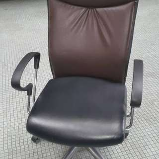 Office Chair Kulit PU High Back