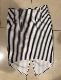 Preloved striped pencil skirt