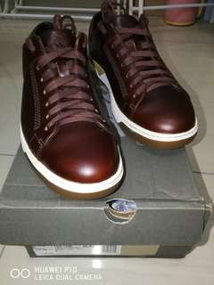 TIMBERLAND INMAN SQUARE LEATHER OXFORD TRAINERS MENS BROWN SHOE