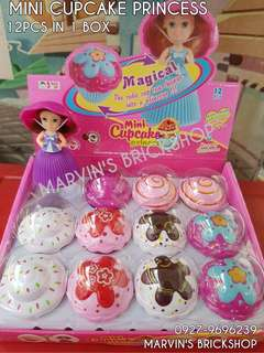 Restocks! 12Pcs Mini Cupcake Princess Dolls