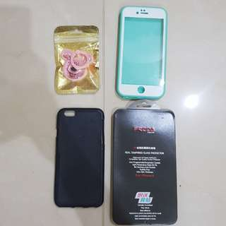 Case, iring, tempered glass iphone 6/6s