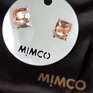 Mimco light pink stud earrings ~ Miu Miu style