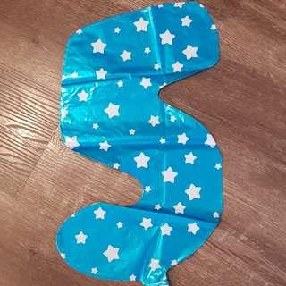 Party Foil Blue Balloon no.5 for sale!