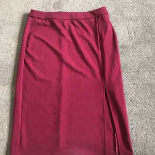 Side split pencil skirt
